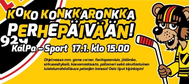 Liigan Perhepäivä 17.1. Kuopio
